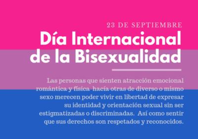 Día Internacional de la Bisexualidad: Una fecha para recordar la diversidad sexual que compone y complementa nuestra sociedad
