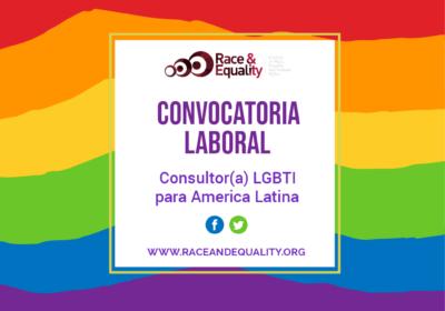 Convocatoria Laboral – Consultor(a) LGBTI para America Latina
