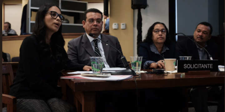 Nicaraguan journalists and human rights defenders denounce the Nicaraguan government's use of violence and repression in response to public protests in a hearing before the Inter-American Commission on Human Rights