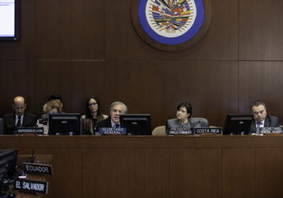 OAS announces it will apply the Inter-American Democratic Charter to Nicaragua after learning that crimes against humanity have been committed in that country