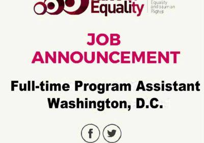 Job Announcement: Full-Time Program Assistant