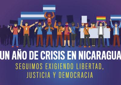 Seguimos exigiendo libertad, justicia y democracia para Nicaragua