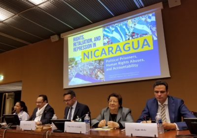 Remarks in Geneva: Need for International Guarantors to Ensure Respect for Human Rights in Nicaragua
