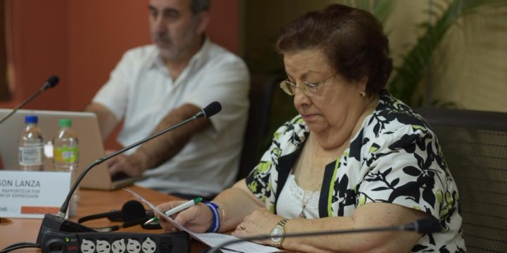 Human rights defender Vilma Núñez asks the IACHR to demand respect for the right of association in Nicaragua