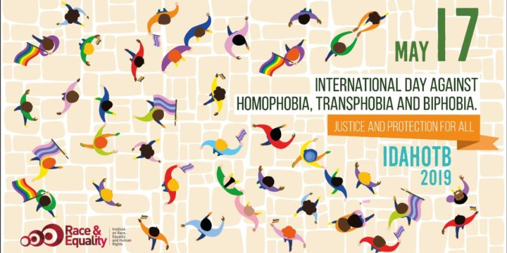 International Day Against Homophobia, Biphobia and Transphobia.