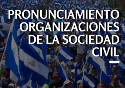 Pronunciamiento de la sociedad civil con ocasión de la actualización oral sobre la situación en Nicaragua que realizará ACNUDH