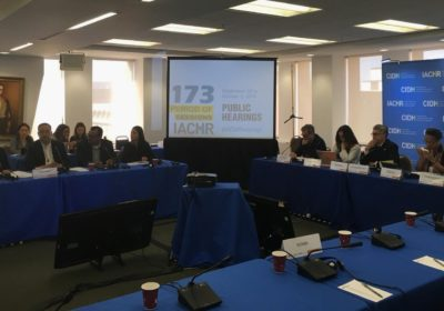 Nicaraguan journalists denounce continuous violations of freedom of expression and press during the IACHR's 173rd period of  sessions
