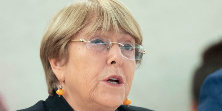 High Commissioner Michelle Bachelet updates the Human Rights Council on the situation in Nicaragua