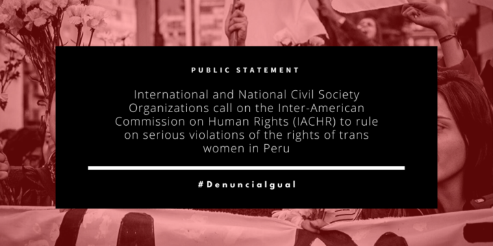 International and National Civil Society Organizations call on the Inter-American Commission on Human Rights (IACHR) to rule on serious violations of the rights of trans women in Peru