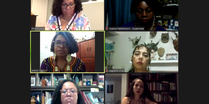 Activists from Mexico, Guatemala, and Colombia gather to expose the issues faced by Afrodescendant women in the midst of the COVID-19 pandemic and to urge States to take necessary measures for their protection