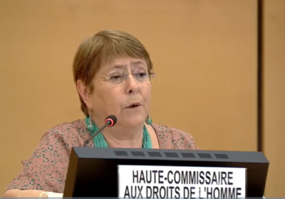 "High Commissioner Michelle Bachelet: ""the health crisis caused by COVID-19 has led to greater restrictions on civic and democratic space"" in Nicaragua"