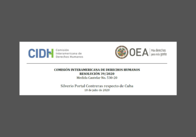 IACHR grants Race and Equality's request for precautionary measures for Cuban political prisoner Silverio Portal Contreras