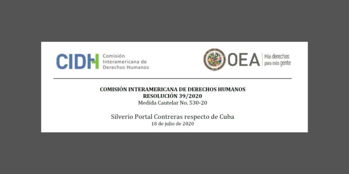 IACHR grants Race and Equality's request for precautionary measures for Cuban political prisoner Silverio Portal Contreras