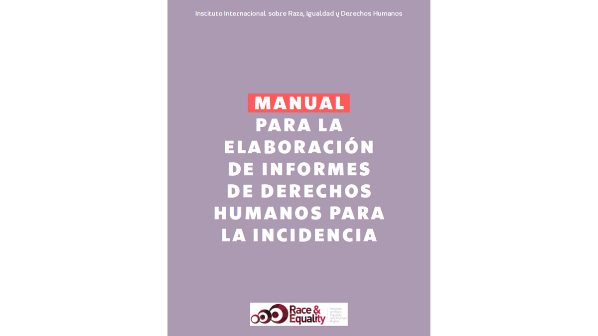 Race and Equality launches manual on report-writing for human rights advocacy