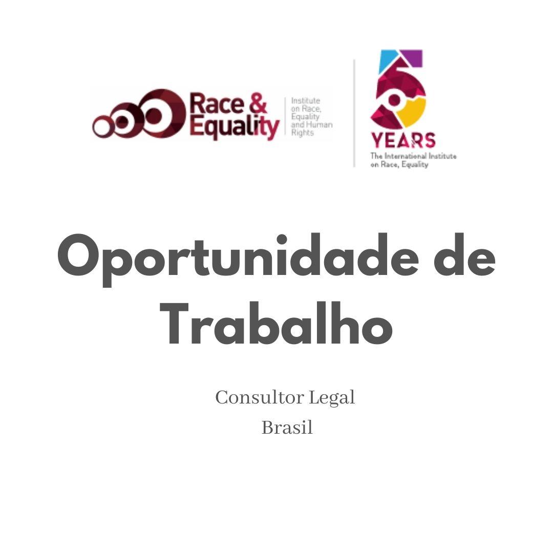 Oportunidade de Trabalho - Consultor Legal - Brasil