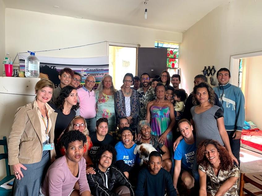 Visita da Comissária Margarette May Macaulay (CIDH) à Casa Nem - Agosto/2019