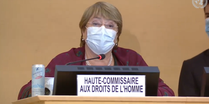 High Commissioner Michelle Bachelet urges the Government of Nicaragua to release 94 political prisoners
