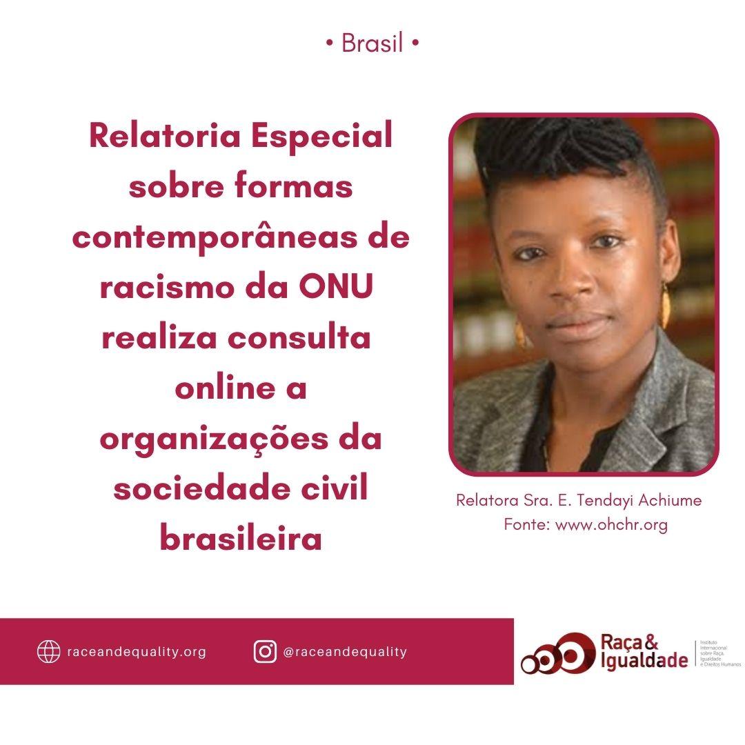 Consulta ONU ao Brasil Tenday Achiume