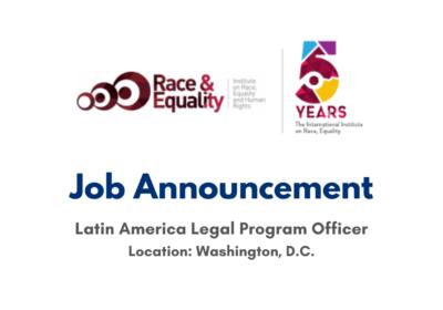 JOB ANNOUNCEMENT: Legal Program Officer
