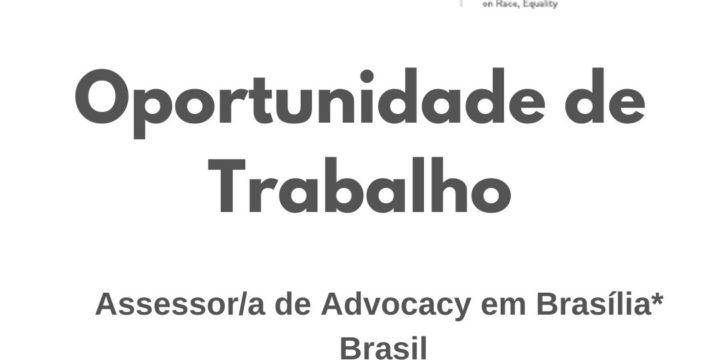 Oportunidade de Trabalho: Assessor/a de Advocacy em Brasília (Brasil)