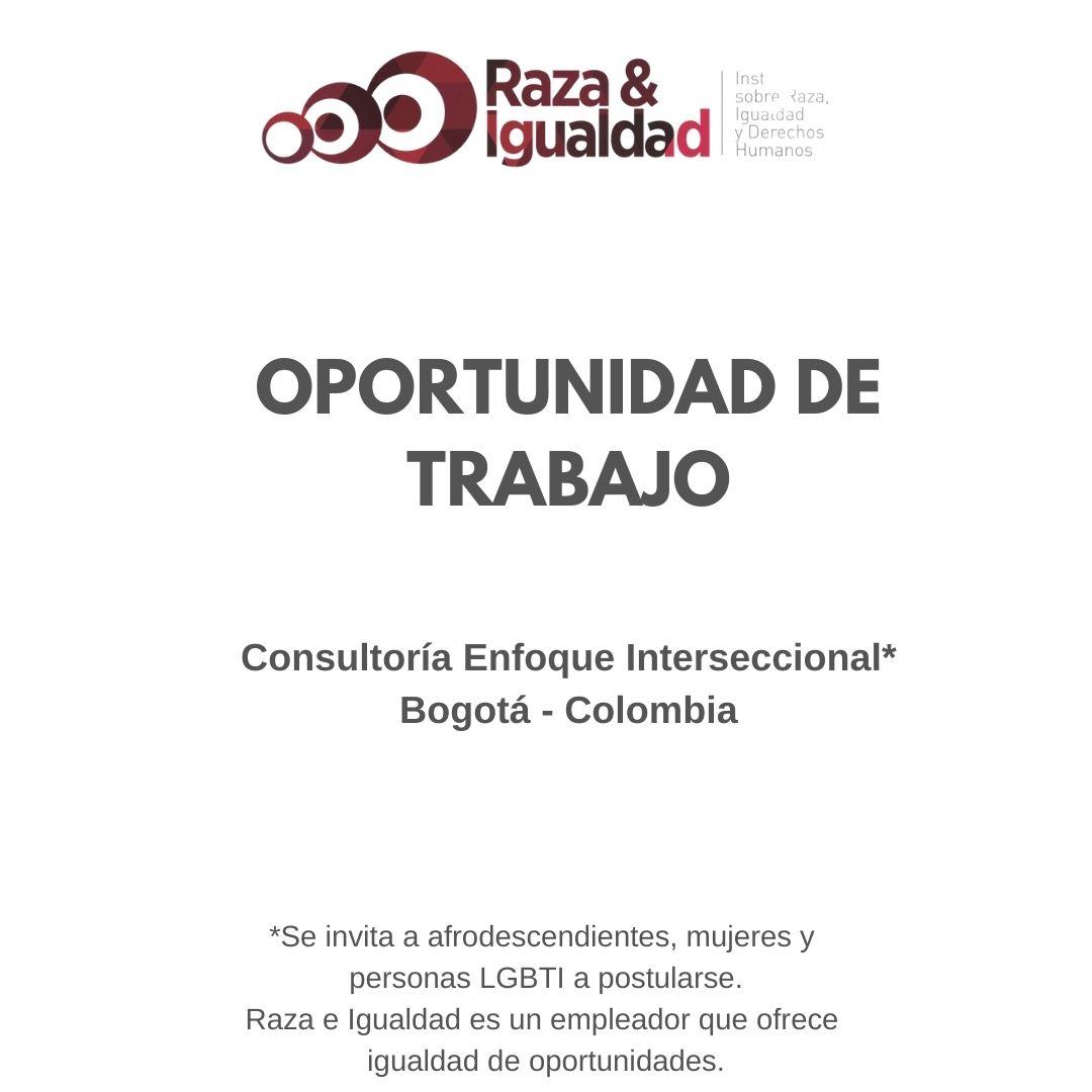Oportunidad de Trabajo - Consultoría Enfoque Interseccional