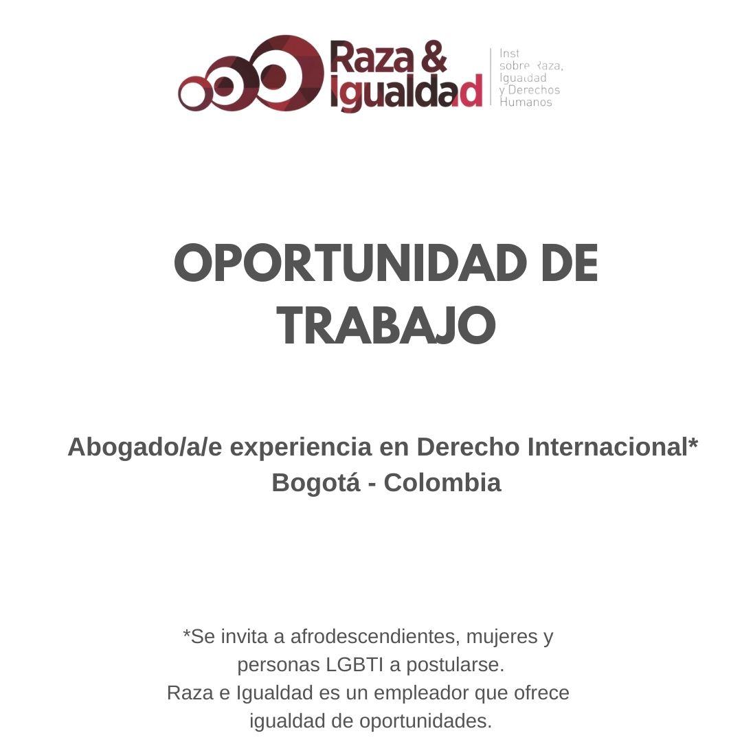 Oportunidad de Trabajo-DerechoInternacional-Colombia