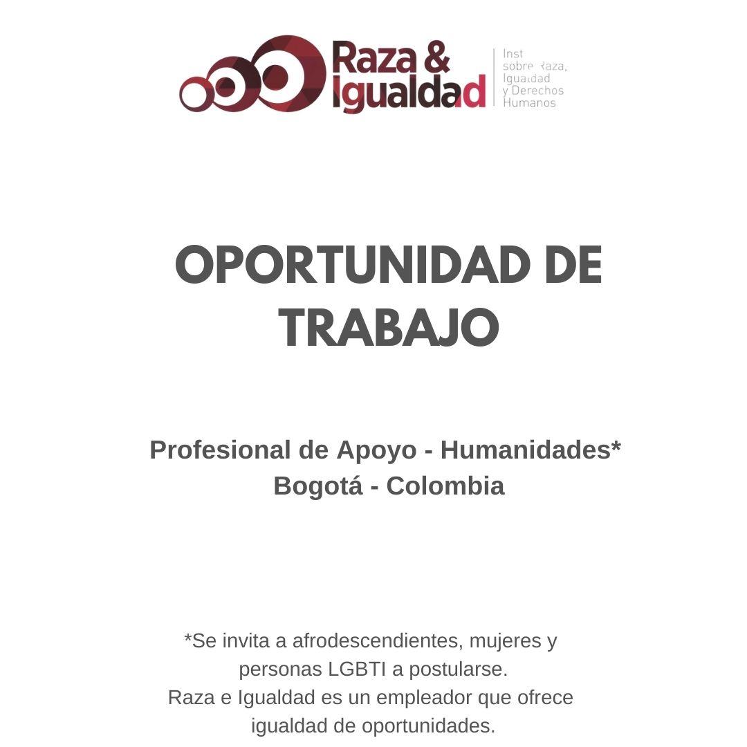 Oportunidad de Trabajo - Profesional Humanidades
