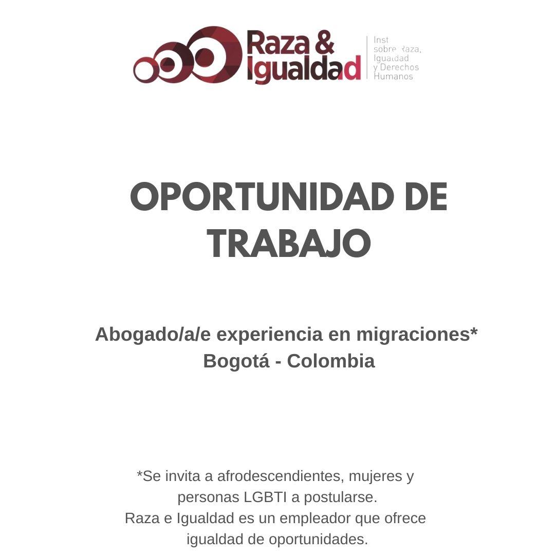 Oportunidad de Trabajo - Abogados Migraciones