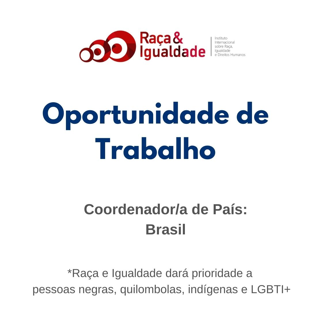 Oportunidade de Trabalho: Coordenador/a Brasil