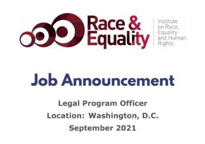 JOB ANNOUNCEMENT: LATIN AMERICA LEGAL PROGRAM OFFICER
